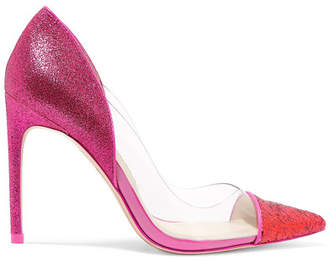 Sophia Webster Daria Glittered Leather And Vinyl Pumps