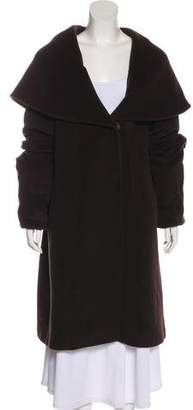 Cinzia Rocca Angora & Wool-Blend Coat