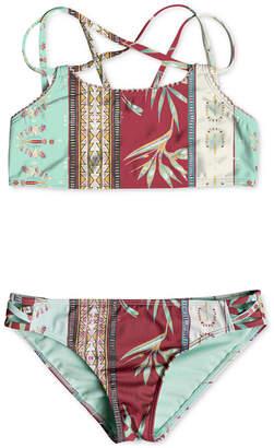 Roxy 2-Pc. Printed Bikini Swimsuit, Big Girls