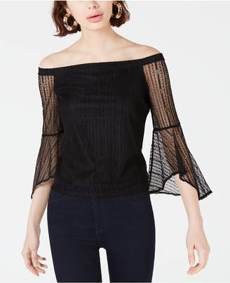 Bar III Lace Off-The-Shoulder Top