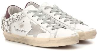 Golden Goose Exclusive to Mytheresa Superstar embellished leather sneakers