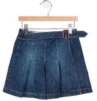 Burberry Girl's Pleated Wrap Skirt