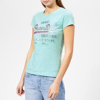Superdry Women's Shirt Shop Infill Emboss Entry T-Shirt