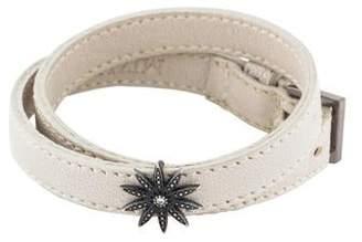 Mizuki Diamond Star Leather Wrap Bracelet