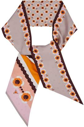 Fendi Flowers Print Silk Maxi Wrappy