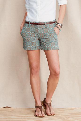 Lands' End Canvas Women's Eyelet Shorts