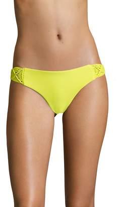 Mikoh Women's Cayman Woven Side Detailed Bikini Bottom