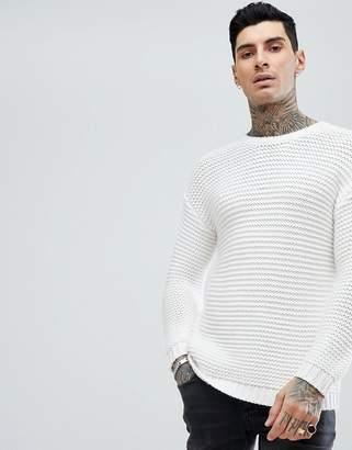 Asos DESIGN Ribbed Heavyweight Sweater