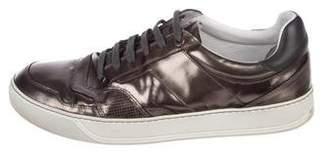 Lanvin Metallic Leather Sneakers