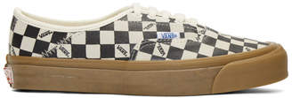 Vans Black and Off-White OG Checkerboard Sneakers