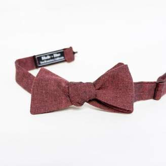 Blade + Blue Solid Burgundy Chambray Bow Tie