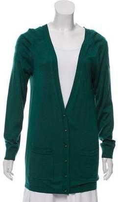 Balenciaga Silk & Cashmere Knit Cardigan