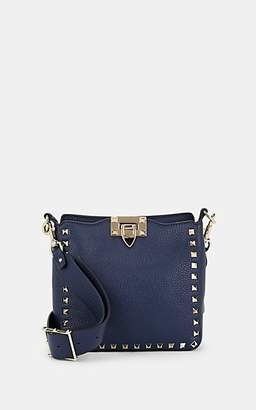 Valentino Women's Rockstud Mini Leather Hobo Bag - Blue