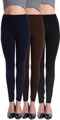 Homma 3 Pack Extra-Thick French Terry Thermal Leggings (Large/X-Large, )