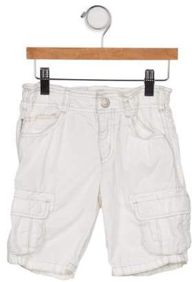 Armani Junior Boys' Woven Flat Front Shorts white Boys' Woven Flat Front Shorts
