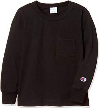 Champion (チャンピオン) - [チャンピオン] ポケット ロングスリーブTシャツ CS4797 ボーイズ ブラック 日本 90 (日本サイズ90 相当)