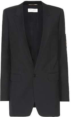 Saint Laurent Wool appliqué blazer