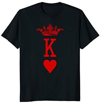 King of Hearts Vintage Crown Engraving Card T-Shirt