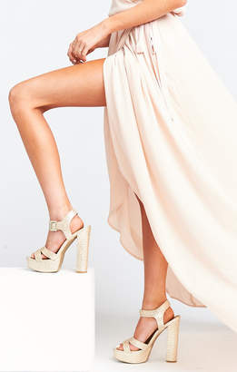 Show Me Your Mumu All That Glitters Platform Heels ~ Champagne
