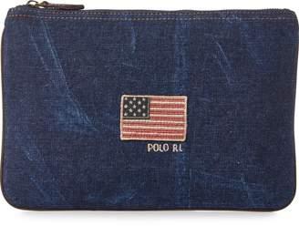 Ralph Lauren Flag Canvas Small Pouch