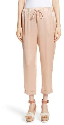 Mes Demoiselles Fester Silk Ankle Pants