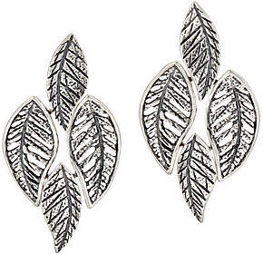 Or Paz Sterling Silver Textured Leaves Earrings