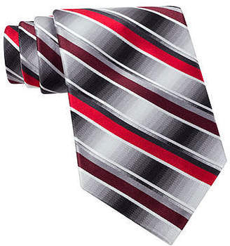Van Heusen Brave Striped Silk Tie - Extra Long