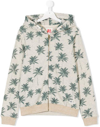 American Outfitters Kids Palm print zipped hoodie