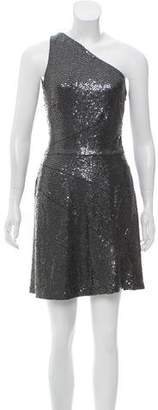 Michael Kors One-Shoulder Sequin Dress