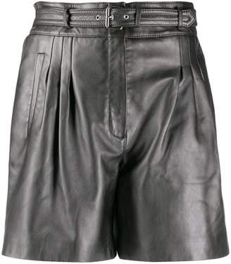 Alberta Ferretti belted pleated detail shorts