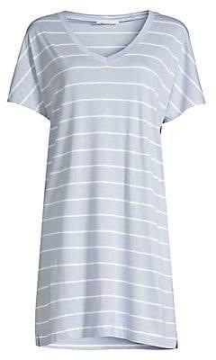 Hanro Women's Laura Striped Sleep Gown