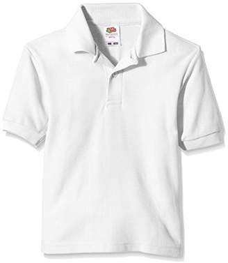 Fruit of the Loom Unisex Kids 65/35 Short Sleeve Polo Shirt,(Manufacturer Size:32)