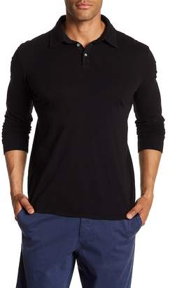 Velvet by Graham & Spencer Classic Slub Long Sleeve Polo