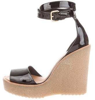 Pierre Hardy Patent Leather Platform Wedge Sandals w/ Tags