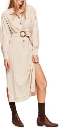 Free People Audrey Stripe Midi Shirtdress