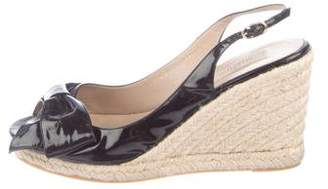 Valentino Patent Leather Espadrille Wedges
