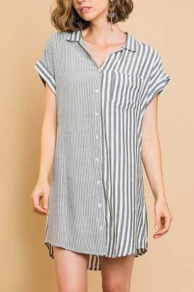 Umgee USA Stripe Buttonfront Dress
