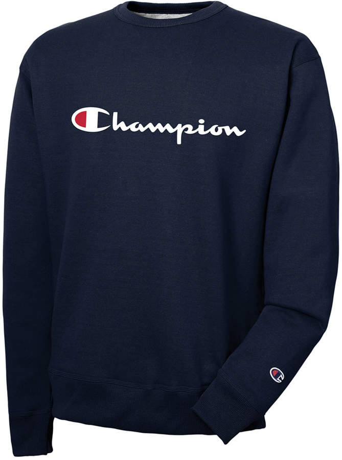 Champion Men's Powerblend Script Logo Sweatshirt