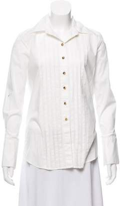 J Brand Pleated Button-Up Top