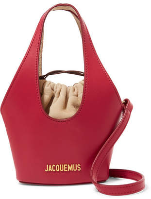 Jacquemus Le Cariño Leather Shoulder Bag - Red