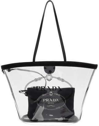 Prada Transparent and Black PVC Tote