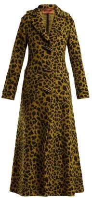 Missoni Leopard Jacquard Terry Coat - Womens - Yellow Multi