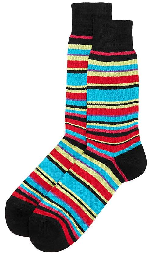 The Men's Store at Bloomingdale's Multi-Striped Socks - 100% Exclusive
