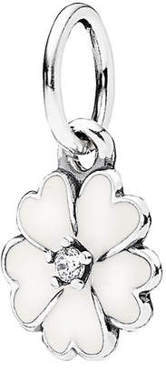 Pandora Silver Cz & Enamel Flower Charm