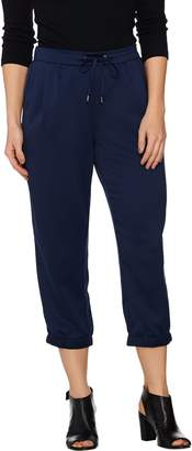 Halston H By H by Pull-On Cropped Jogger Pants with Drawstring