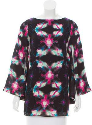 Halston H by Silk Printed Top