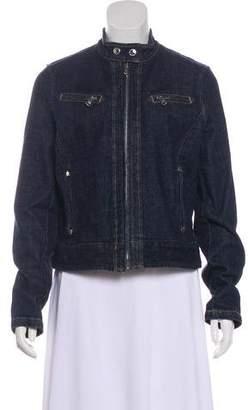 Lauren Ralph Lauren Denim Stand Collar Jacket