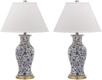 Safavieh Beijing Floral Urn-Shaped Table Lamps, Set of 2