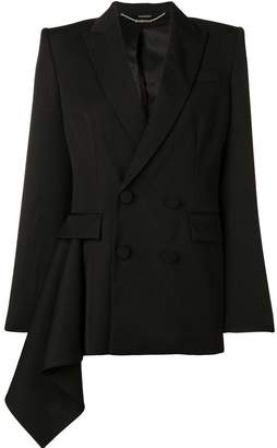 Alexander McQueen double breasted drape jacket
