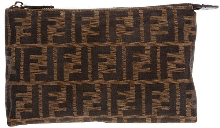 Fendi logo make up bag